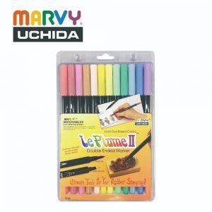 Marvy 1122 12B 300x300 - 1122-12B 12色 兩頭彩繪筆 (柔和色系)