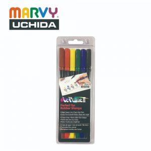 Marvy 1122 6A 300x300 - 1122-6A 6色 兩頭彩繪筆 (原色系)