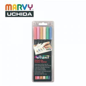 Marvy 1122 6B 300x300 - 1122-6B 6色 兩頭彩繪筆 (柔和色系)