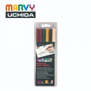 Marvy 1122 6C 300x300 - 1122-6C 6色 兩頭彩繪筆 (維多利亞時期色系)