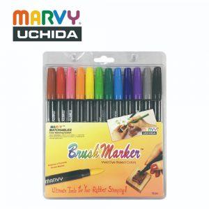 Marvy 1500 12A 300x300 - 1500-12A 12色 毛咀彩繪筆 (原色系)