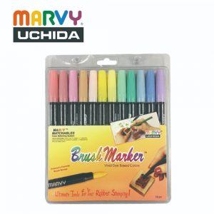 Marvy 1500 12B 300x300 - 1500-12B 12色 毛咀彩繪筆 (柔和色系)