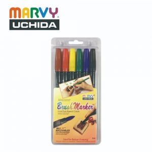 Marvy 1500 6A 300x300 - 1500-6A 6色 毛咀彩繪筆 (原色系)