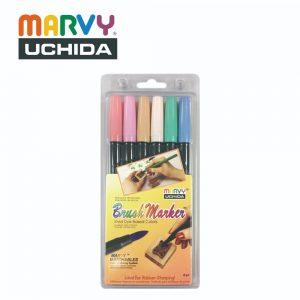 Marvy 1500 6B 300x300 - 1500-6B 6色 毛咀彩繪筆 (柔和色系)