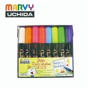 Marvy 483S 8VF 300x300 - 483S 8VF 8色粉畫筆套裝 (方咀 - 螢光系列)