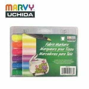 Marvy 5306C 300x300 - 530-C 6色 布彩筆 (毛咀-螢光系列)