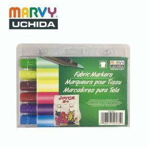 Marvy 5306D 300x300 - 530-D 6色 布彩筆 (毛咀-光亮系列)