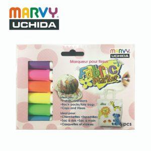 Marvy 5606C 300x300 - 560-6C 6色 布彩筆(螢光色)
