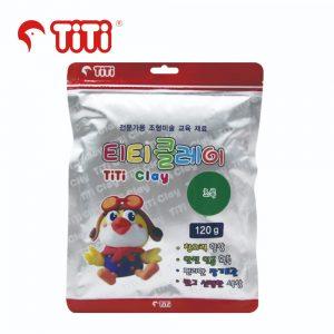 TiTi clay 120g green 300x300 - TI-CZB-120-GR 輕黏土120G 綠色