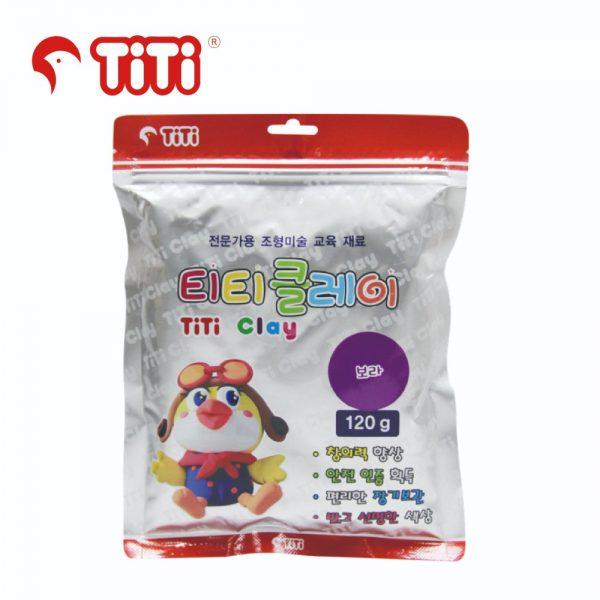 TiTi clay 120g purple 600x600 - TI-CZB-120-PP 輕黏土120G 紫色