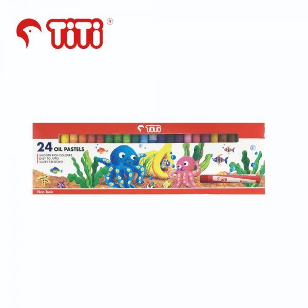TiTi oilpastel 24thin 600x600 - TiTi 油粉彩 24色 (幼) #PS-24/S
