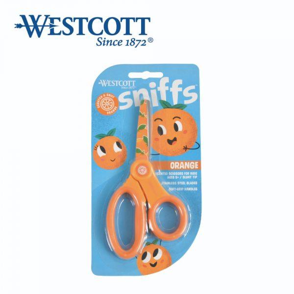 """Westcott 16943 orange 600x600 - 16943 5"""" 香味學生較剪  橙"""